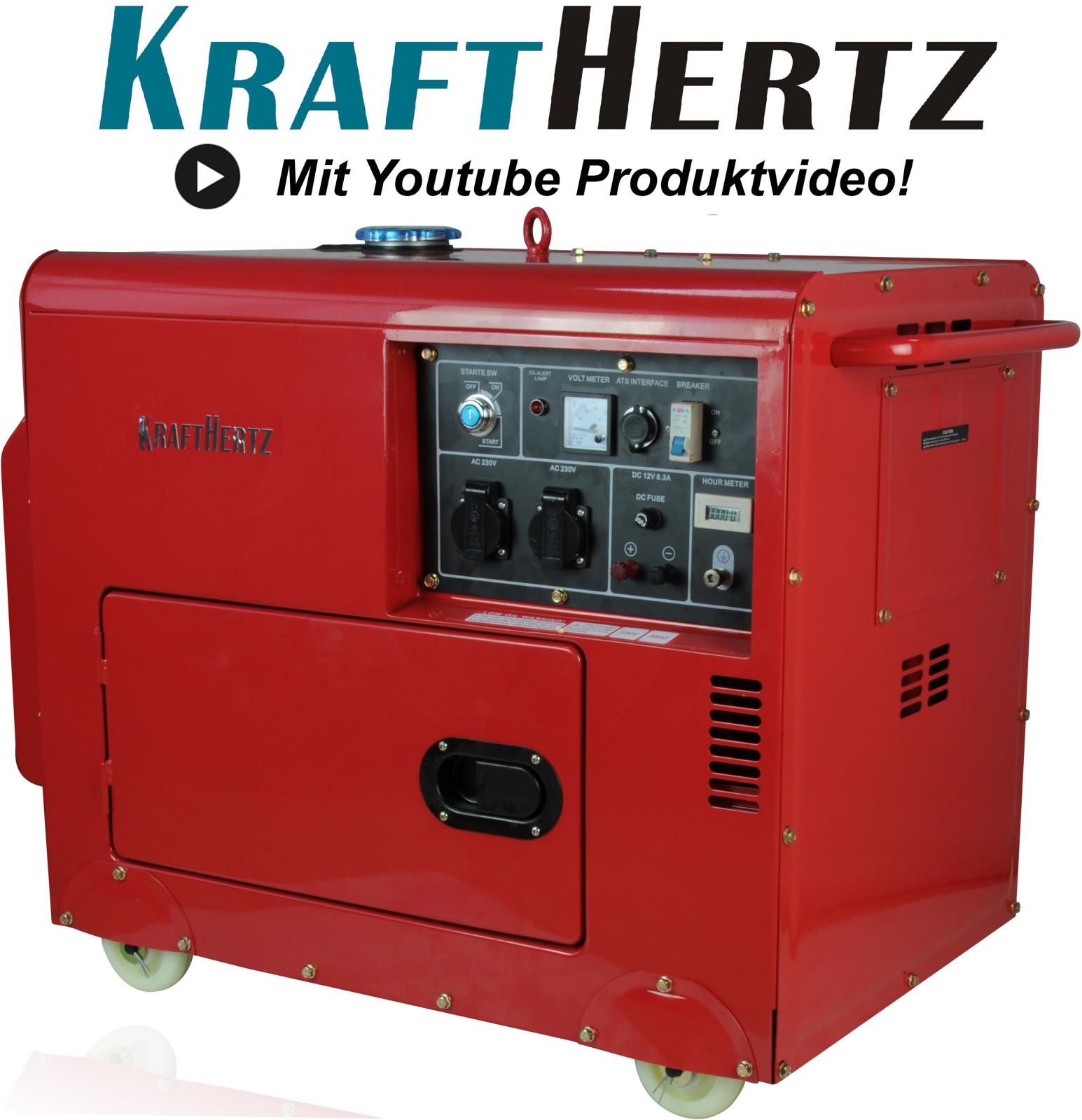 dieselgenerator stromerzeuger 5 5kw 12v 230v notstrom aggregat generator. Black Bedroom Furniture Sets. Home Design Ideas